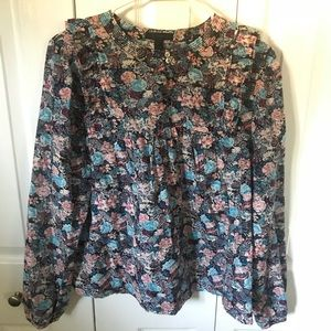 J.crew Silk Peasant Top